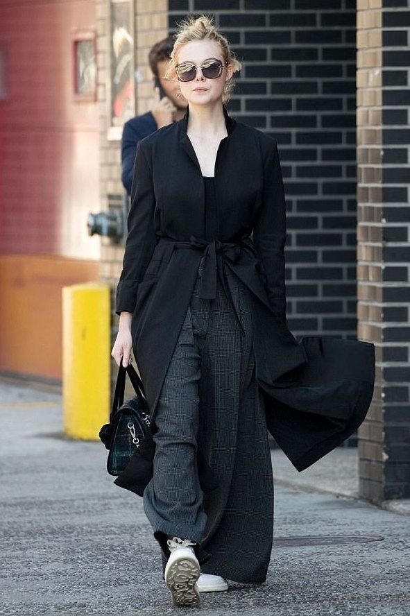 Elle Fanning Running Errands In New York City, New York On
