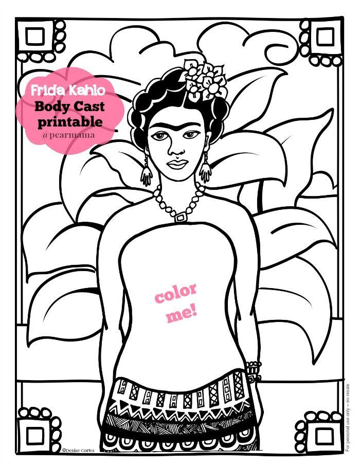 Frida Kahlo | Body Cast Printable