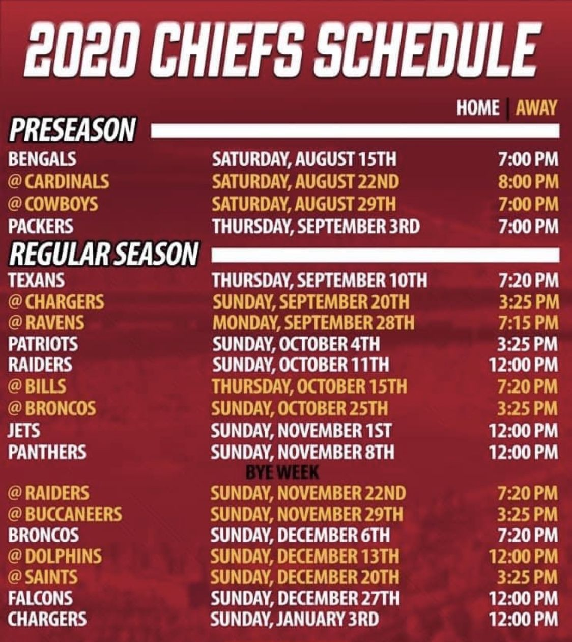Pin By Brenda Frazier On Chiefs Football In 2020 Chiefs Schedule Chiefs Football Kansas City Chiefs Football