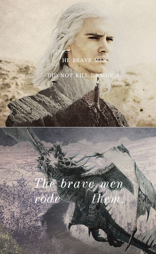 """Brave men didn't kill dragons.The brave men rode them."" Targaryen meme."