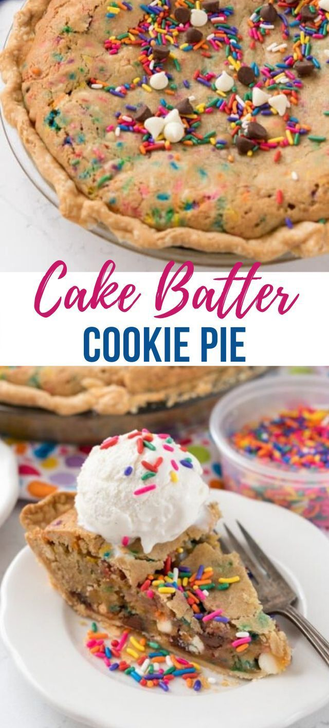 Cake Batter Cookie Pie - Crazy for Crust