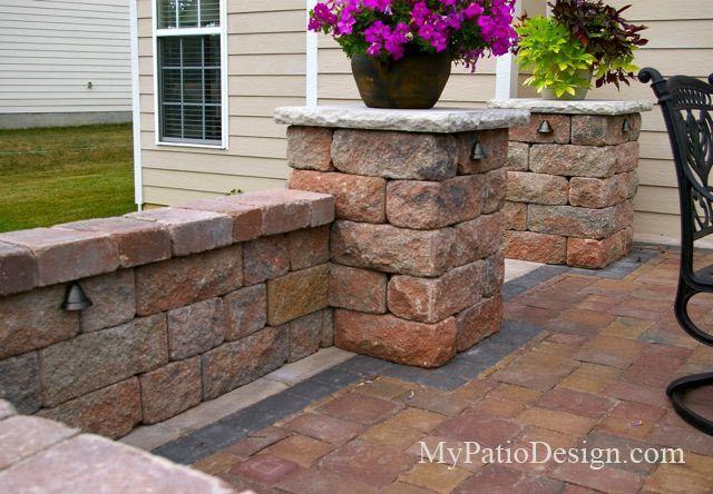 wall seating backyard patio designs