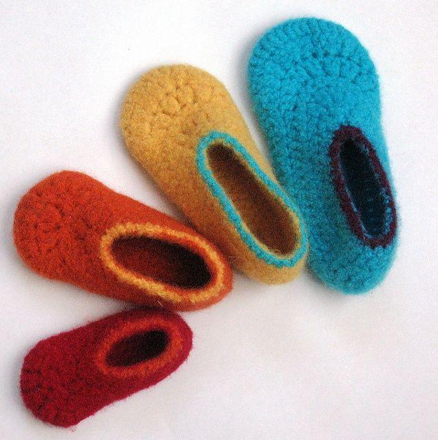 Easy Felted Crochet Kids Slippers pattern by Sarah Lora | Kids ...