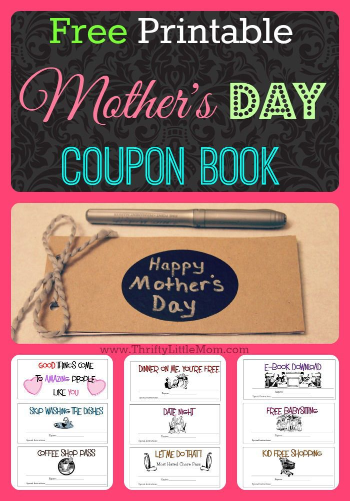 Free Printable Mother's Day Coupons | Free printable, Free ...
