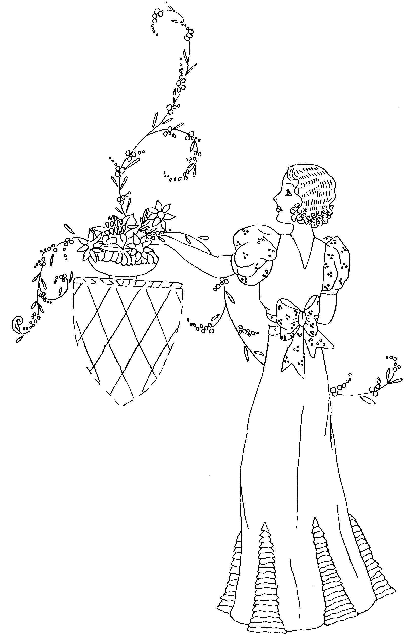 hand embroidery design from Ladies Tie One On - CD of hand ...