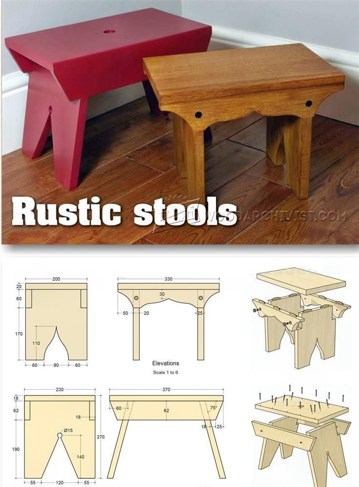 rustic stool plans furniture plans and projects