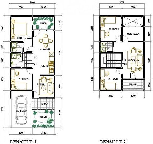15 Contoh Rumah Minimalis Type 36 2 Lantai Modern Beserta ...