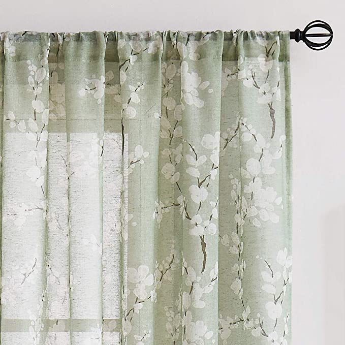 Green Sheer Curtains, 84 In Curtains
