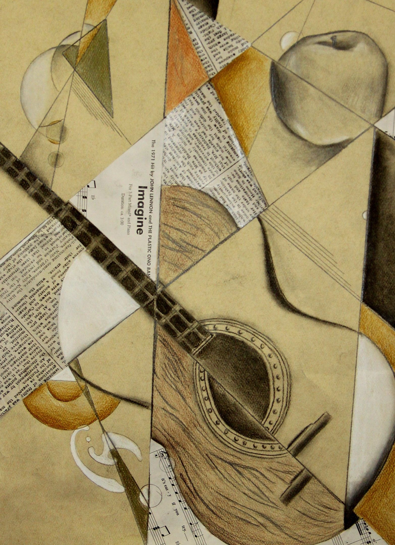 Cubist guitar | Art Education Inspiration | Pinterest | Artist