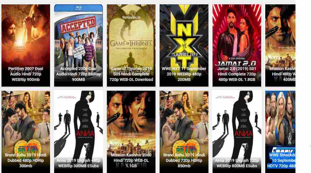 9xrockers 2019 Download Latest Bollywood Hollywood Movie Hd
