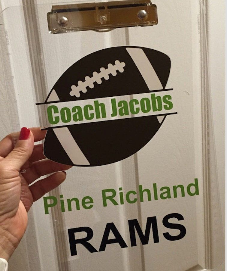 Football coach gift personalized football clipboard with