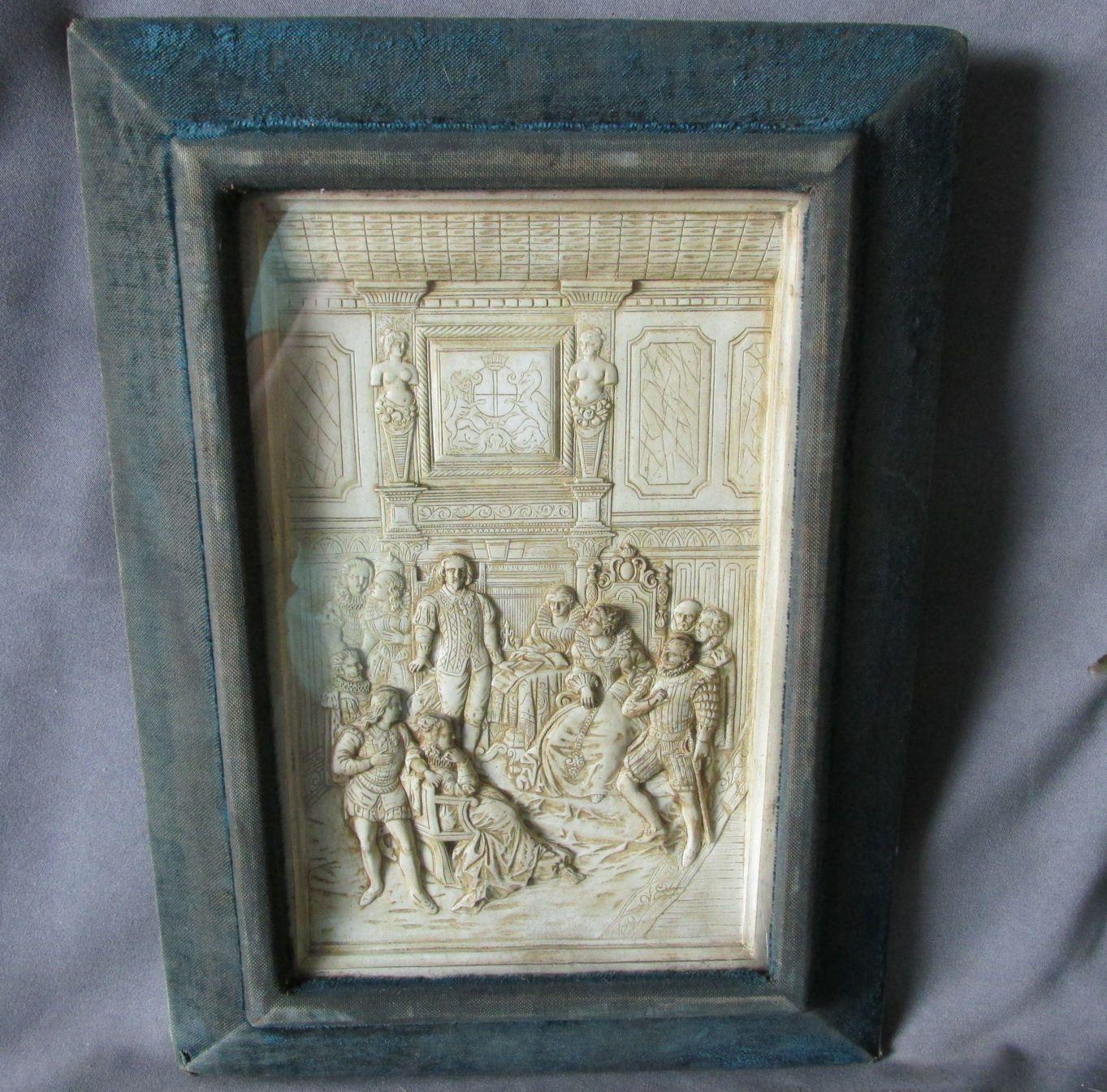 Lovely 19thC Shadowbox Frame with Elizabethan, Shakespeare Scene