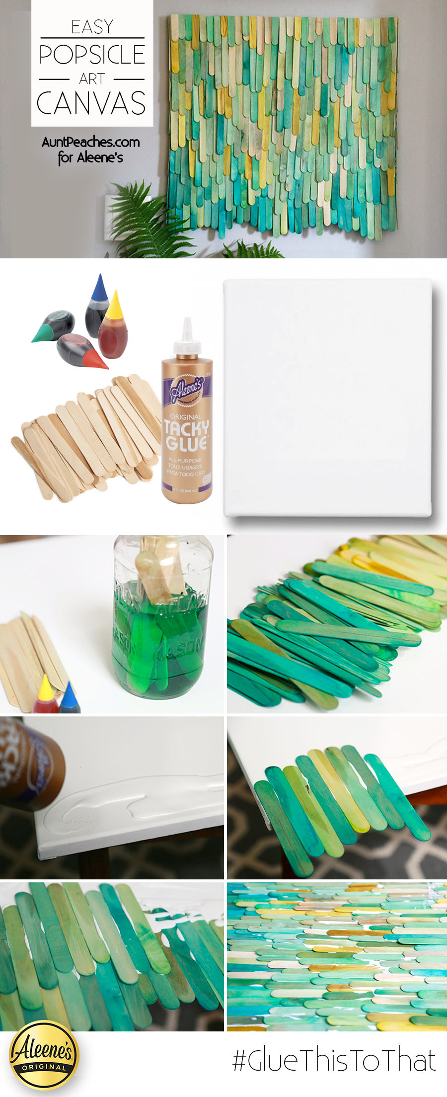 Make This Cool Diy Popsicle Art Using Dyed Popsicle Sticks