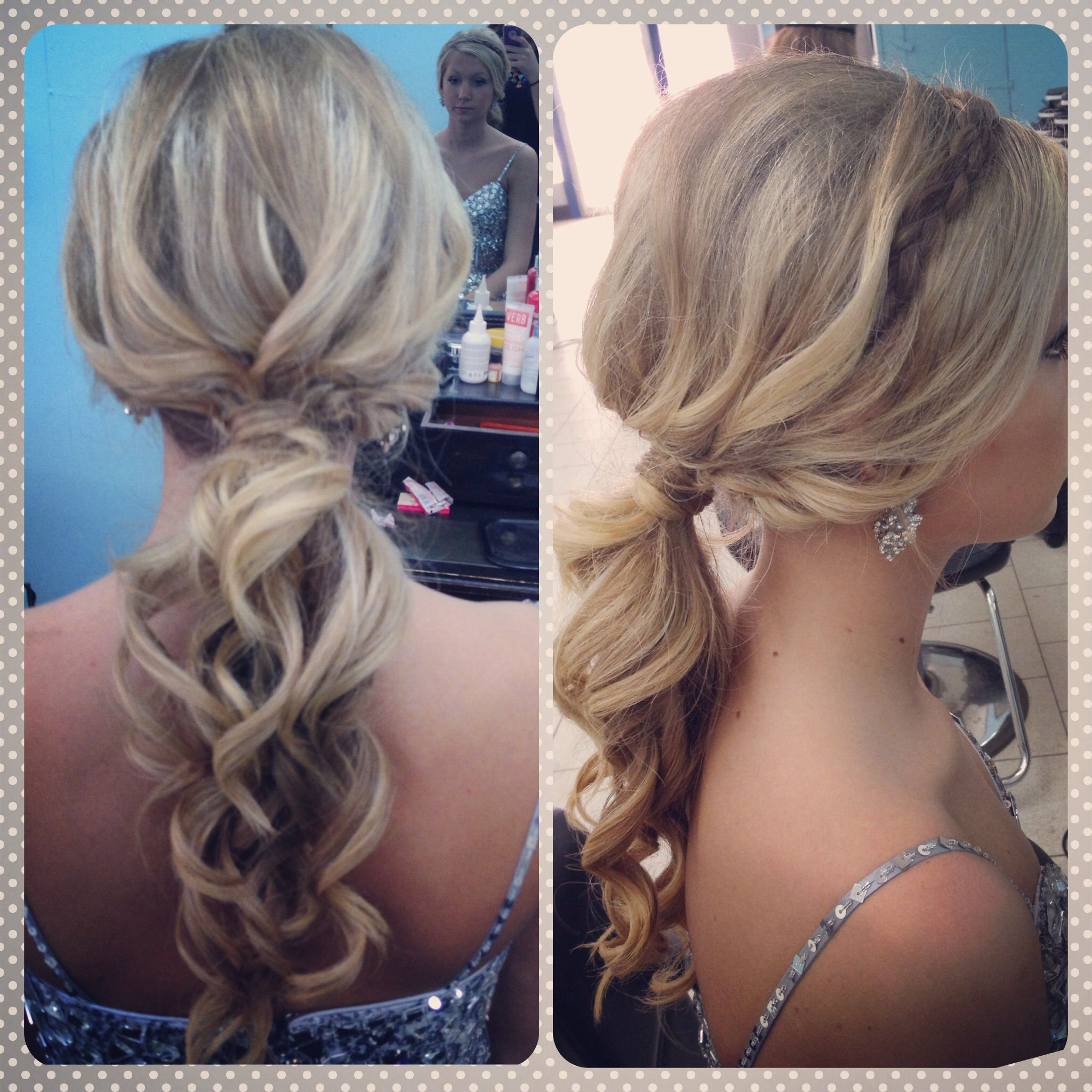 Prom Updo with headband Braid Hair what I do