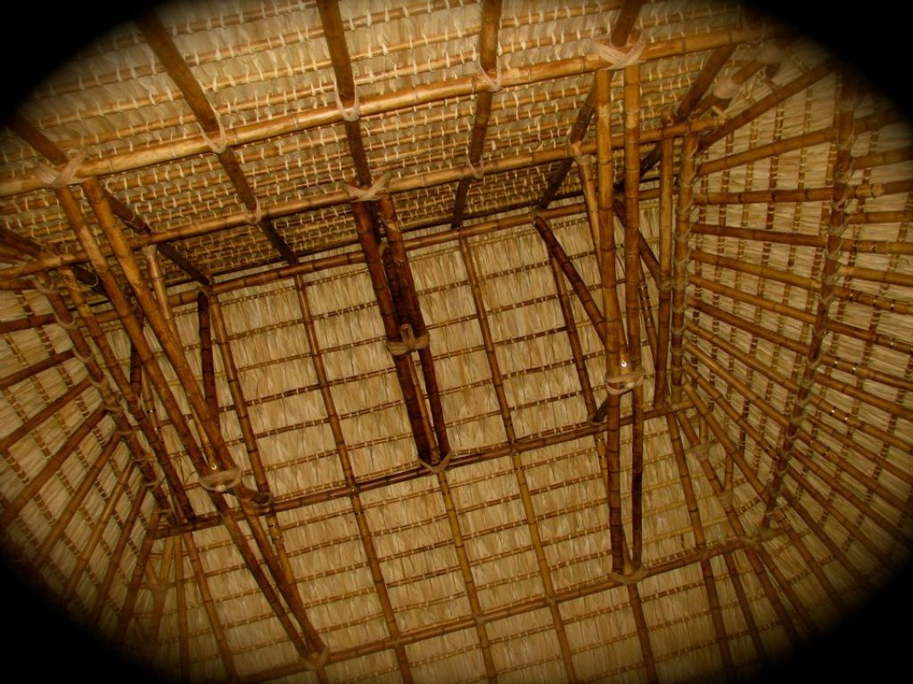 Bamboo palapa in Puerto Escondido, Mexico. Design by FACTOTUM Architects and Diego Muriedas.