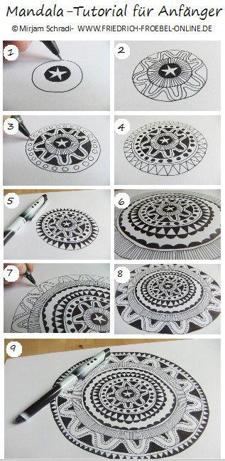 mandala tutorial for beginner anleitung zum mandala malen anleitung wie du schritt f r. Black Bedroom Furniture Sets. Home Design Ideas
