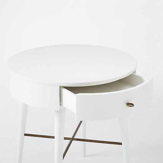 Penelope Nightstand – Large (White) | West Elm