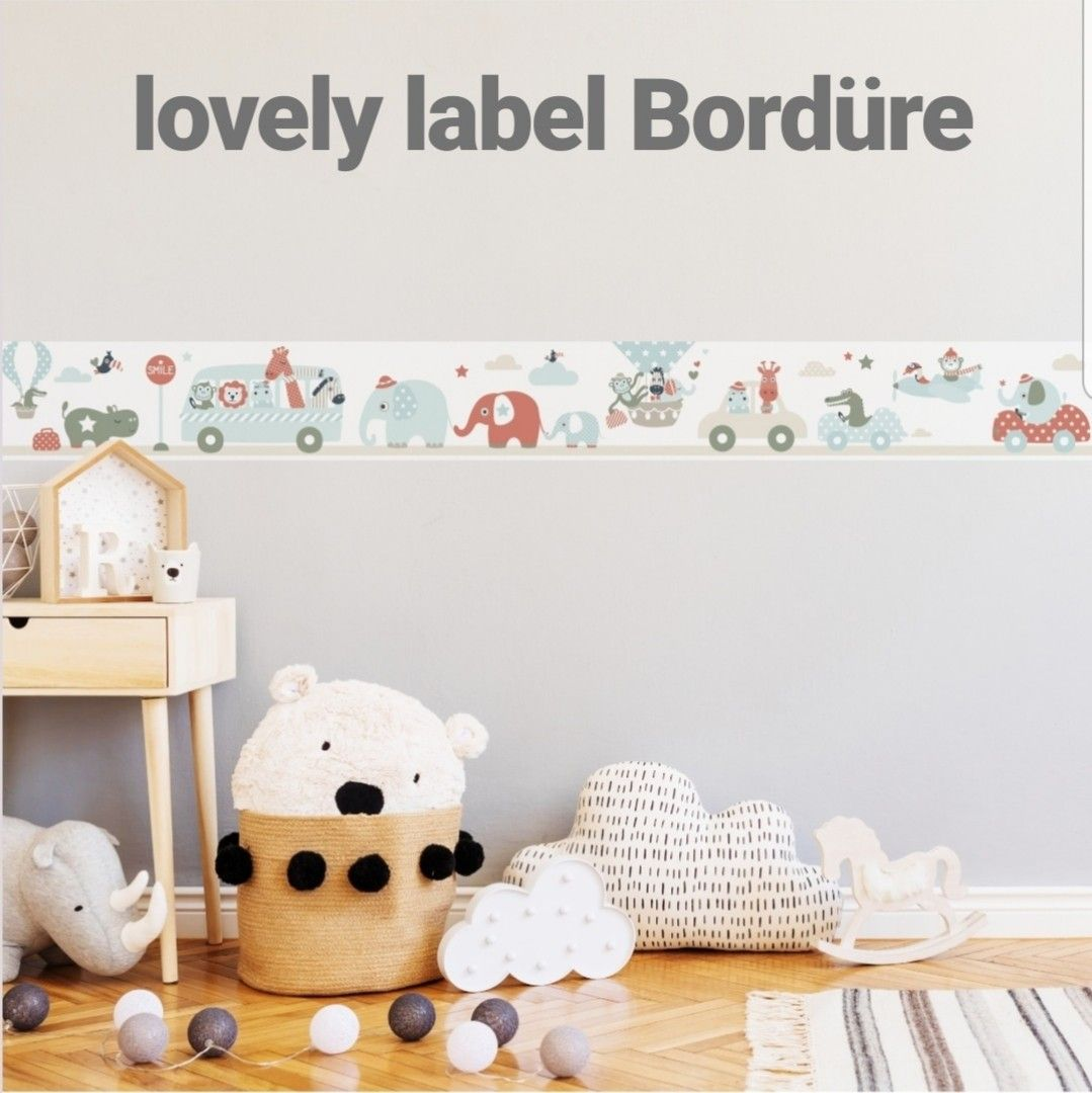 Lovely Label Bordure Tiere On Tour Selbstklebend Babyzimmer Kinder Zimmer Babyzimmer Kinderzimmer