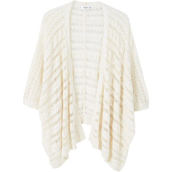 Openwork Cardigan ($39) ❤ liked on Polyvore featuring tops ...