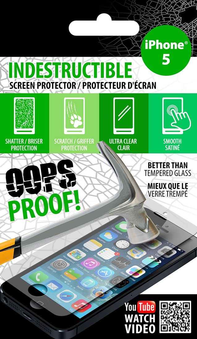 Indestructible Screen Protectors for iPhones, iPads, & Samsung Galaxy Phones
