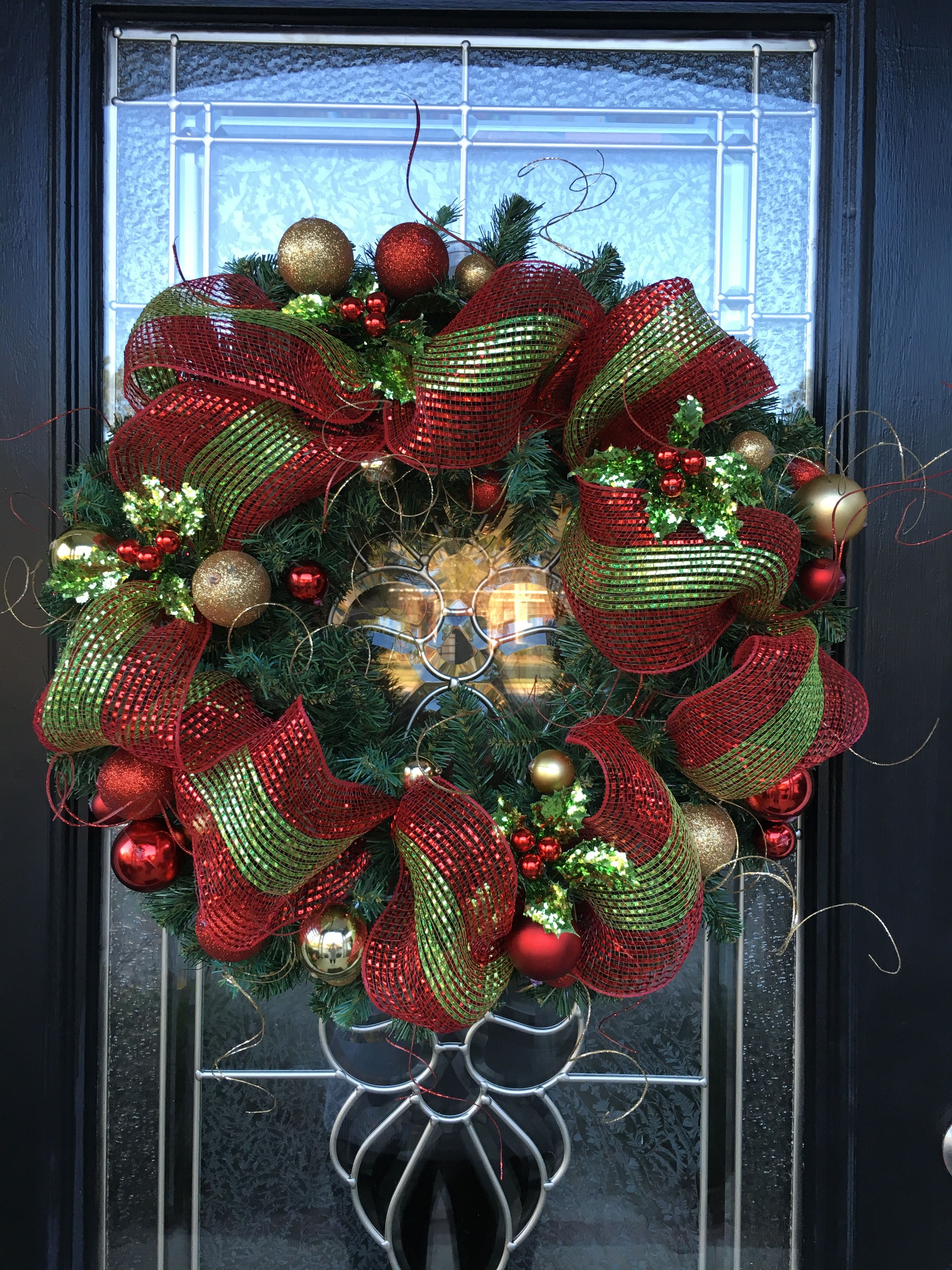Christmas Holiday Wreath I Made From Hobby Lobby Supplies Wreath