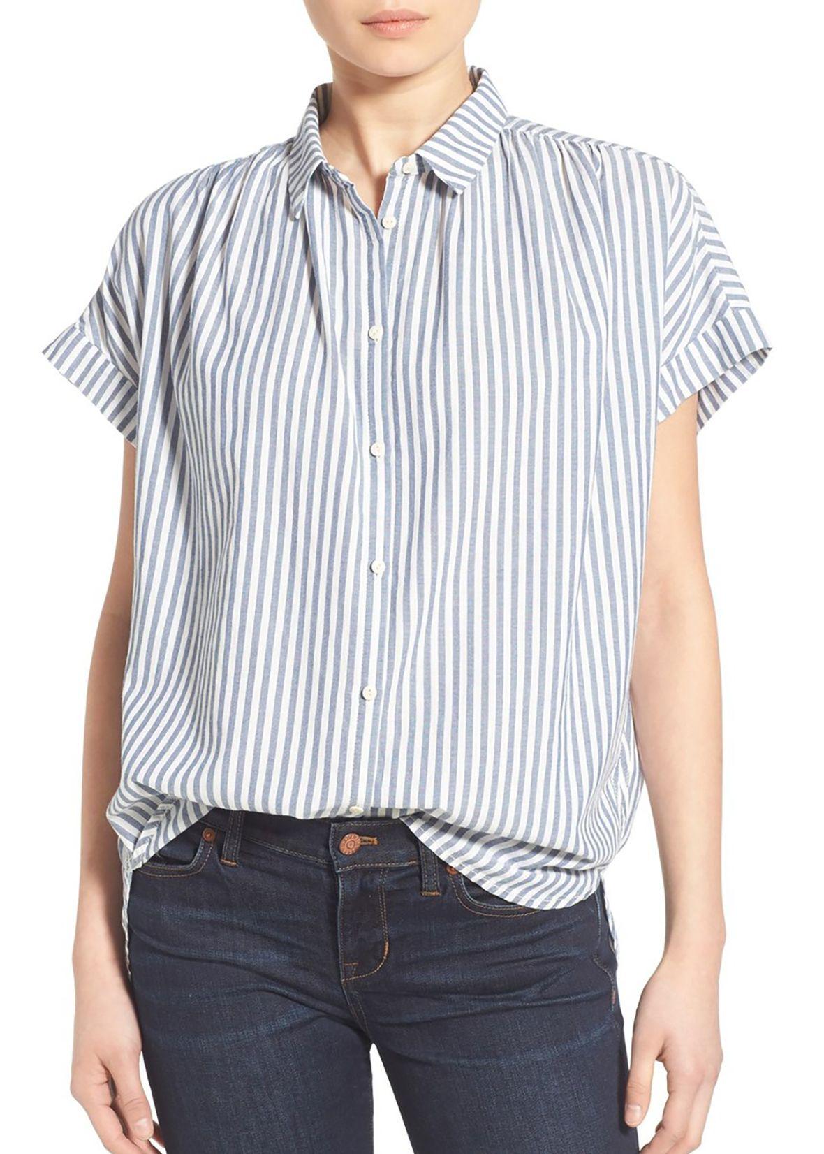 'Central' Stripe Cotton Shirt
