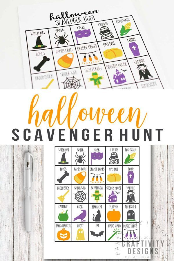 fun printable halloween scavenger hunt for kids and adults halloween ideas pinterest halloween scavenger hunt halloween games and halloween ideas