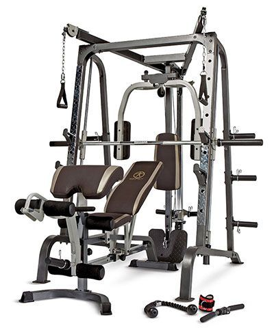 Marcy diamond elite smith cage review by garage gym workout home