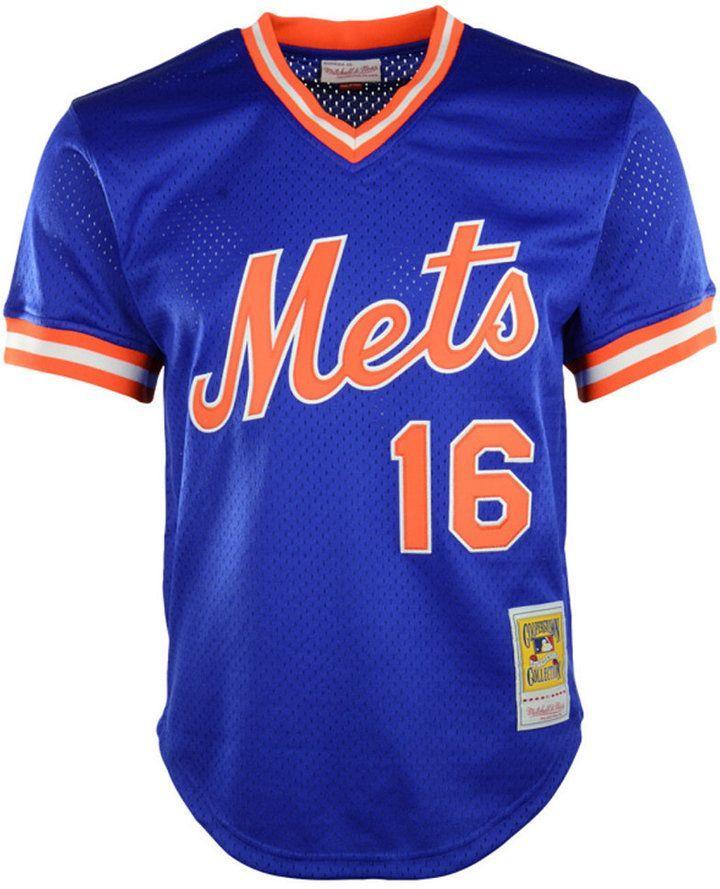 6f9c6edb Mitchell & Ness Men's Dwight Gooden New York Mets Authentic Mesh Batting  Practice V-Neck Jersey