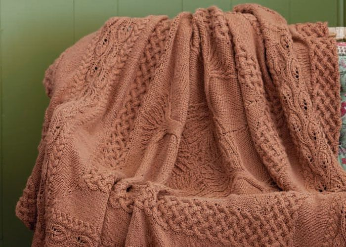 Counterpane Knit Afghan Pattern: Yggdrasil Afghan by Lisa Jacob - free pattern book
