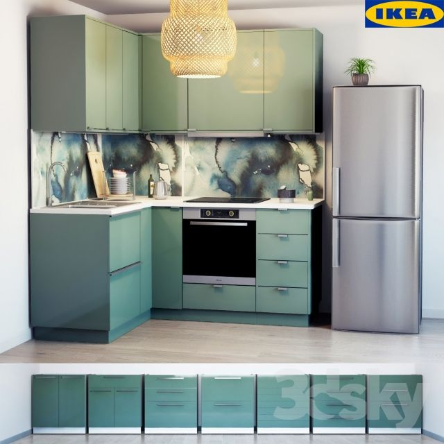 r sultat de recherche d 39 images pour cuisine vert de gris ikea kallarp kitchen in 2019 ikea. Black Bedroom Furniture Sets. Home Design Ideas