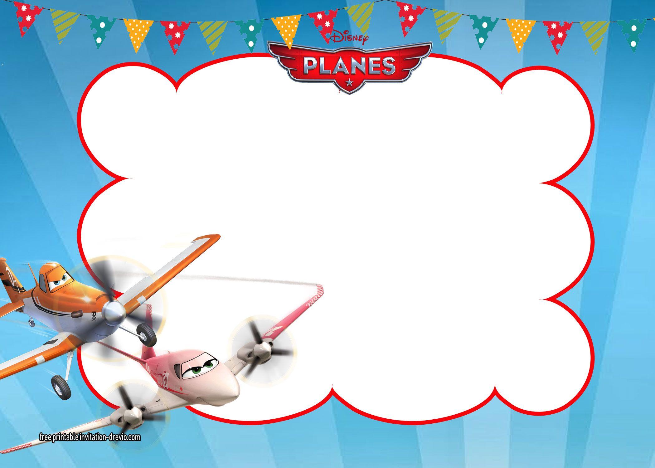 Disney Planes Invitations Templates   Free Printable Birthday ...