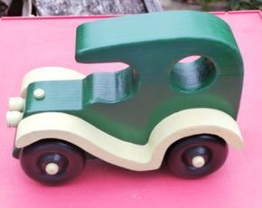 Old fashion style touring auto wooden car wood toy imagination toy push pull classic touring car