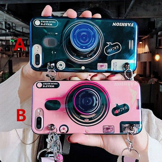 Fashion Bling Blue Light Simulator Camera Case With Kickstand | Etsy