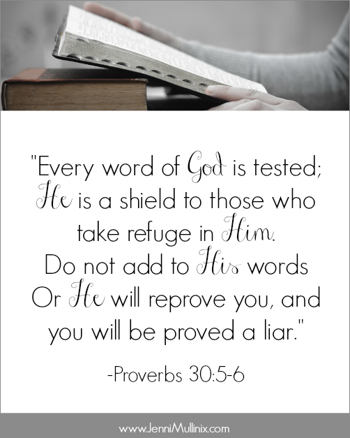Get your free printable and join me in memorizing Proverbs 30:5-6 for the Book to Brain Scripture Memory Challenge!