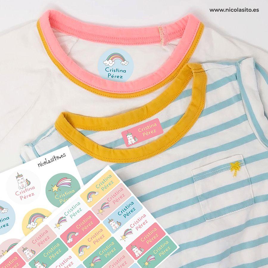Etiquetas Para Ropa Unicornios Pegatinas Marcar Ropa Nicolasito Etiquetas Para Ropa Etiquetas Ropa Marcas Ropa Niños