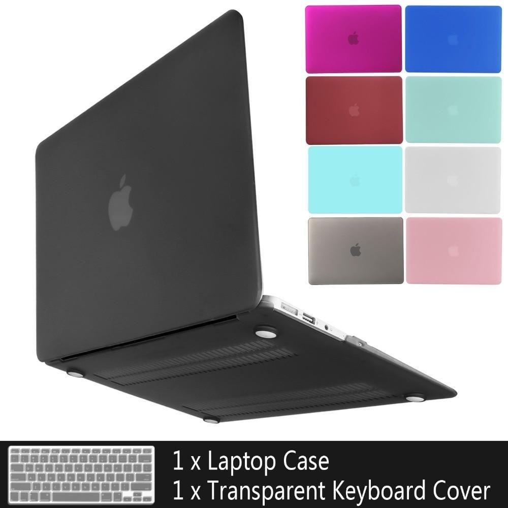 """Black TPU Keyboard Cover/& Hard Matte Case for Macbook Air Pro Retina 11//12//13"""""""