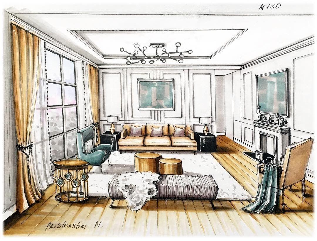 Interior Design Sketches Interior Design Renderings Interior Design Sketches Home Interior Design