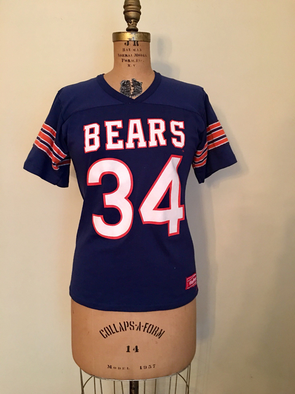 timeless design 1eecf 911cf Vintage 80's Chicago Bears Walter Payton Jersey T shirt ...