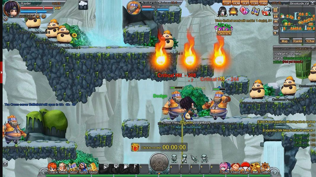 Ninja Heroes Is A Free To Play Browser Based Anime Style Game Also Available On Facebook Side Scrolling Mmorpg Mas Mmo Games Roleplaying Game Games To Play