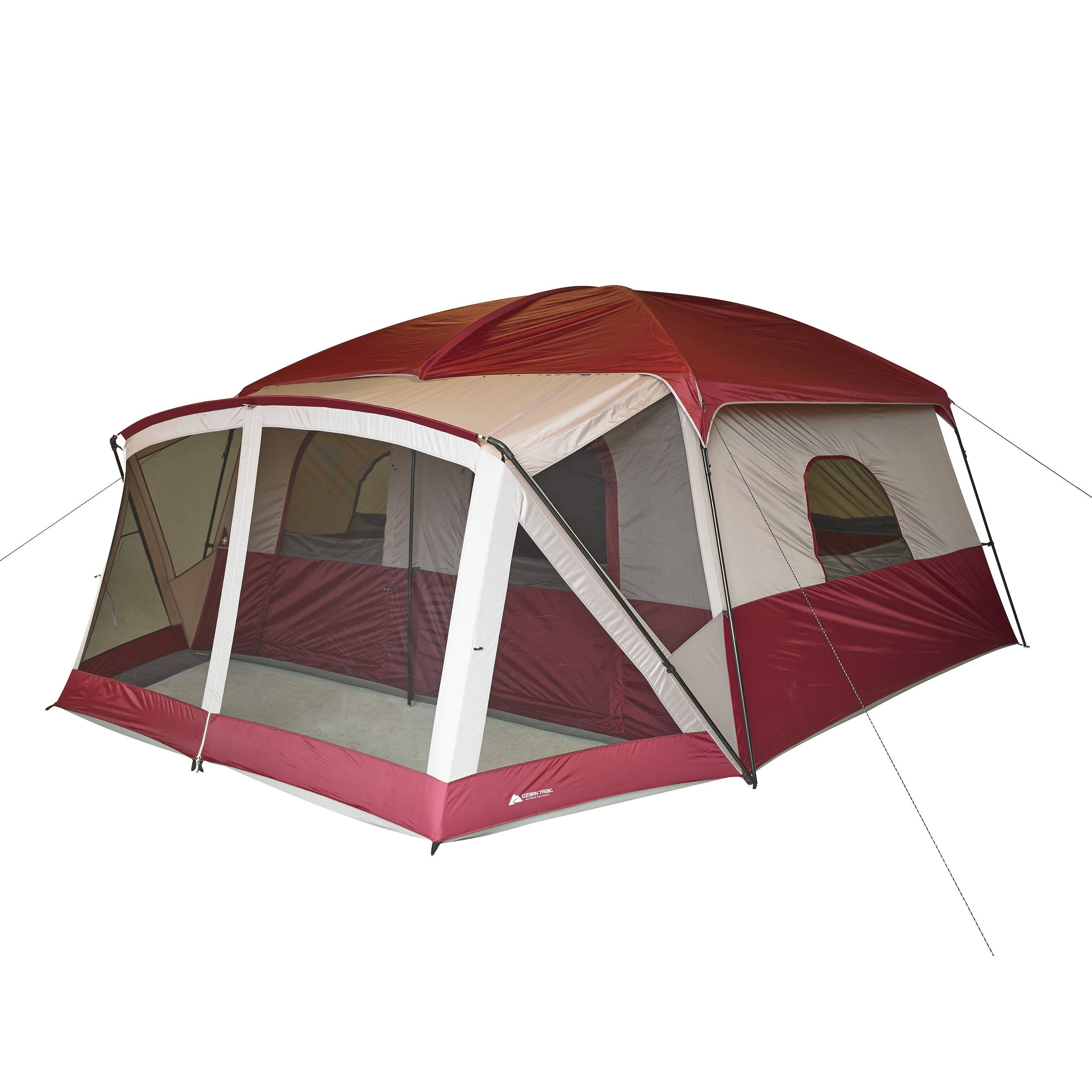 149 Free 2 Day Shipping Buy Ozark Trail 12 Person Cabin Tent With Screen Porch At Walmart Com Cabin Tent Cabin Camping 12 Person Tent