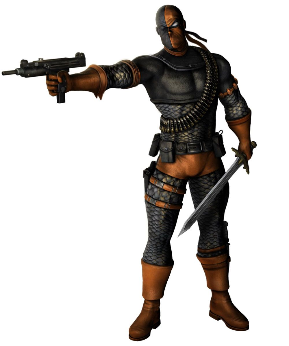 Deathstroke Characters Art Mortal Kombat Vs Dc Universe Deathstroke Mortal Kombat Mortal Kombat Characters