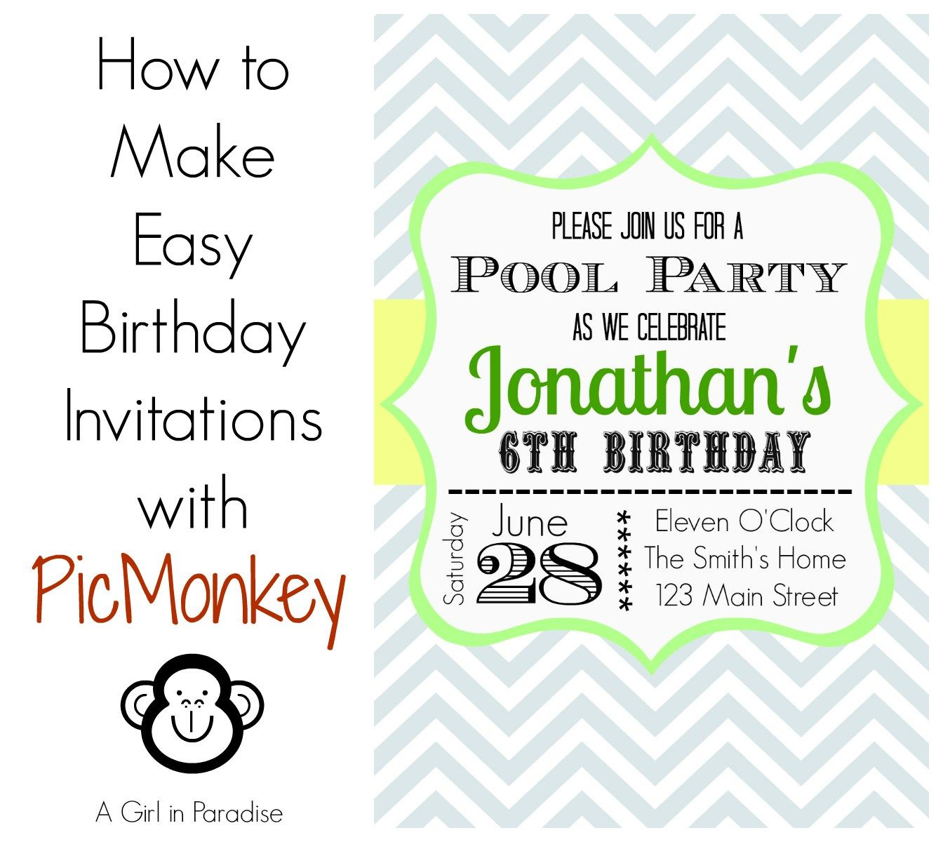 How to Make Invitations with PicMonkey   Harry Potter/ Hermelien ...