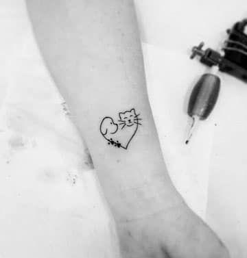 Tatuajes De Perros Y Gatos De Siluetas Y Huellitas Tatuajes Para