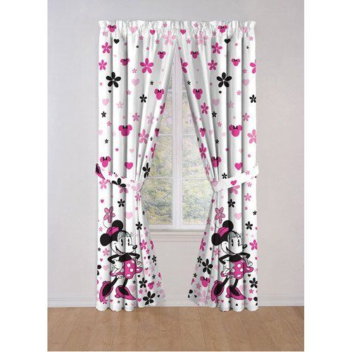 Disney Minnie Mouse Window Panels, Curtains, Drapes by ...