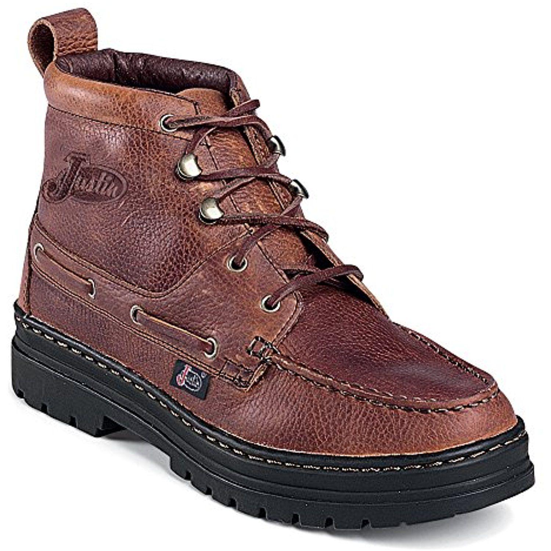 Best Selling Justin Boots Men's 995 Chukka Mens Copper Grizzly Justin Boots Mens Boots