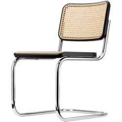 Photo of Thonet cantilever chair S32 black, designer Marcel Breuer, 82x46x58 cm ThonetThonet