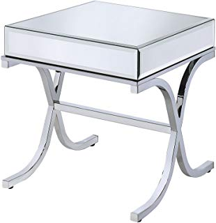 Amazon Com Mirrored Side Tables Home Kitchen Mirrored Side Tables End Tables Marble Top End Tables