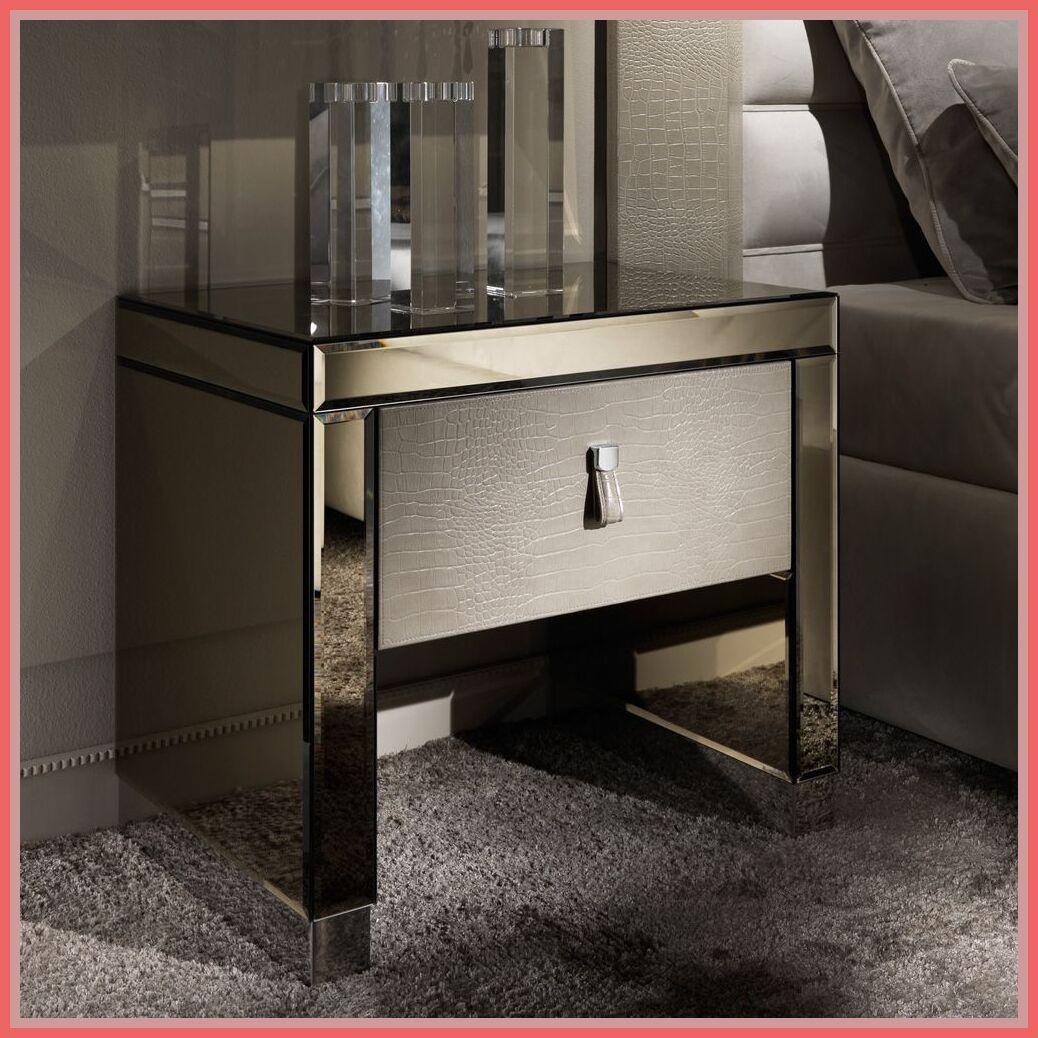 Photo of 87 reference of modern mirrored nightstand