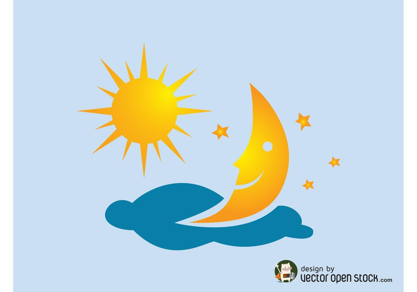 sun and moon vector strike off pinterest moon free vector art rh pinterest com Sunset Vector Sun and Moon Together